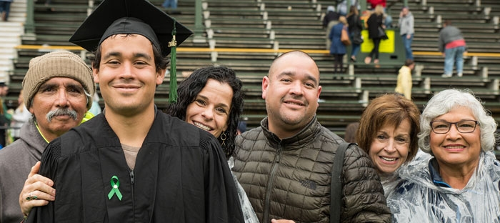 Graduate with family